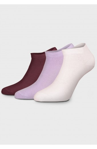 ZOE SOCKS LOUNGE, PINK LILAC RED