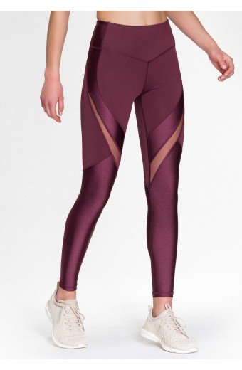 AURORA LEGGINGS, RED WINE