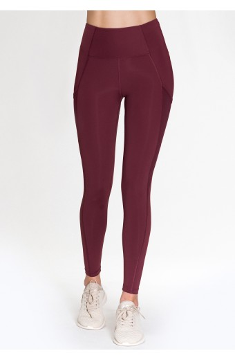 LUNA LEGGINGS, RED WINE