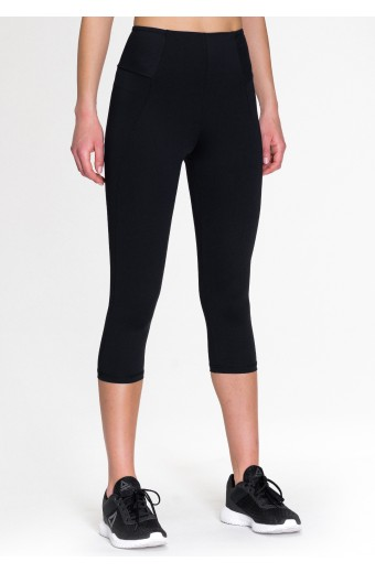 PRIMAVERA CAPRI LEGGINGS, BLACK