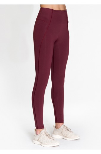 PRIMAVERA LEGGINGS, RED WINE