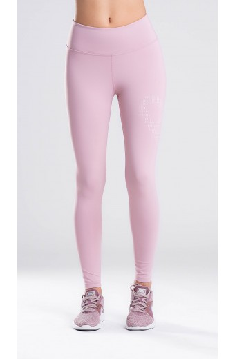HEART LEGGINGS ASH PINK