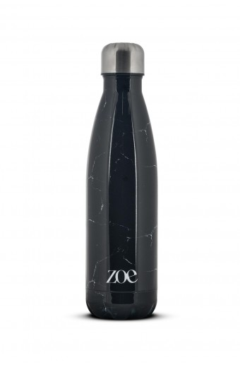 ZOE STAINLESS STEEL INSULATED WATER BOTTLE, MARBLE BLACK, 500 ML