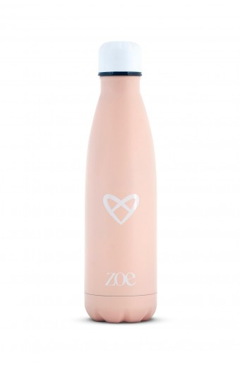 ZOE STAINLESS STEEL INSULATED WATER BOTTLE, PINK, 500 ML