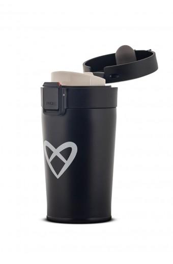 ZOE INSULATED COFFEE BOTTLE, BLACK, 300 ML
