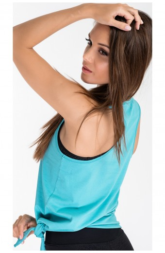 TANGLE TIE FRONT TANK TOP, MINT