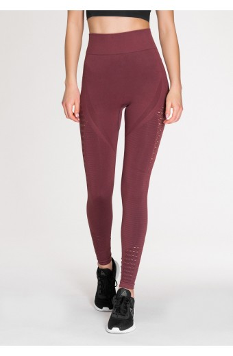 EVOLUTION SEAMLESS LEGGINGS, PLUM
