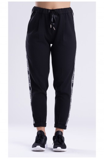 FASHION TRACK PANTS, BLACK