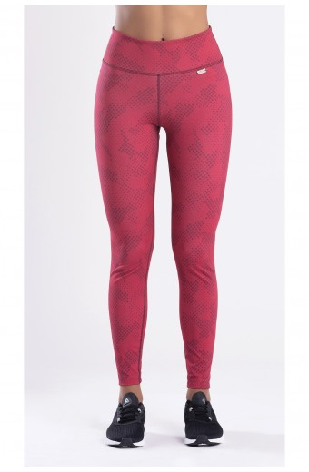 LE CAMOUFLAGE LEGGINGS, BURGUNDY