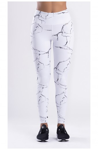 MARBLE SOLID LEGGINGS, WHITE