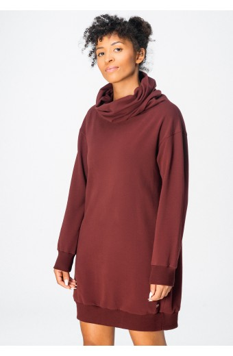 COSMIC DRESS, MAROON