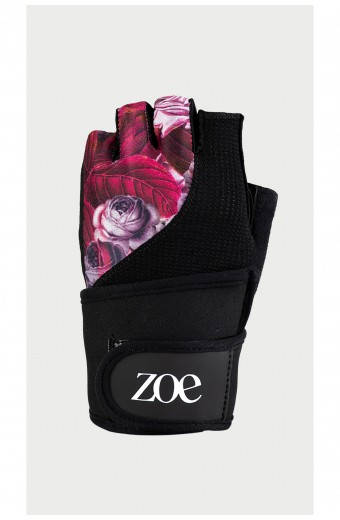 Zoe Floral Fitness Gloves, Purple Jungle