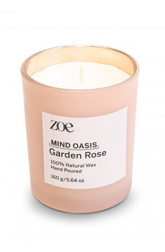 Zoe Mind Oasis Candle, Garden Rose
