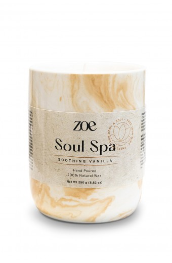 Zoe Soul Spa Candle, Soothing Vanilla