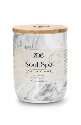 Zoe Soul Spa candle, Tropical Morning