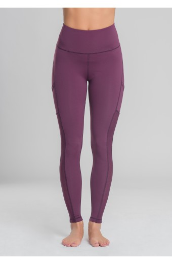 ECLIPSE LEGGINGS, PLUM