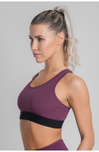 ECLIPSE SPORTS BRA, PLUM