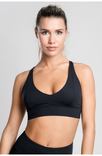 ICONIC BRA, BLACK